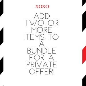 Make a bundle for a private discount/offer!